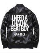 Beat Boy Cha Cha Black Bomber Jacket