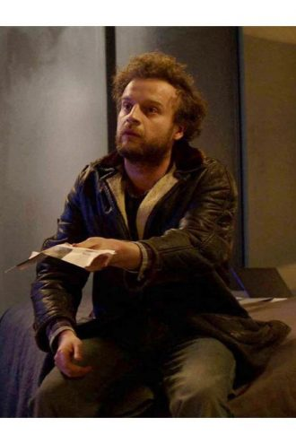 Black Mirror S04 Rob Black Leather Jacket