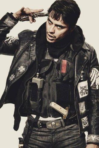 Blood Quantum Lysol Motorcycle Leather Jacket