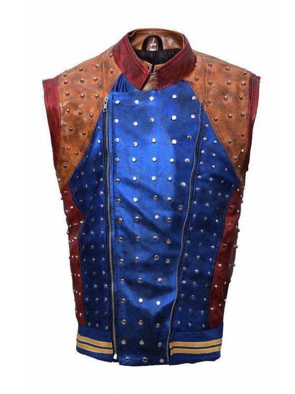 Booboo Stewart Descendants 2 Multicolor Leather Vest