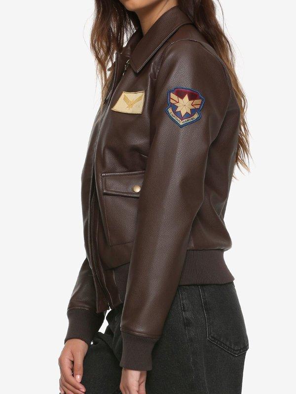 Brie Larson Captain Marvel Air Force Bomber Jacket