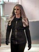 Caitlin Snow The Flash Danielle Panabaker Black Cotton Jacket