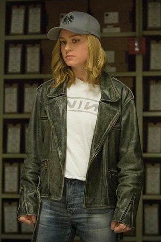 Carol Danvers Captain Marvel Biker Leather Jacket