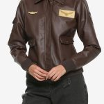 Carol Danvers Captain Marvel Flight Bomber Leather Jacket