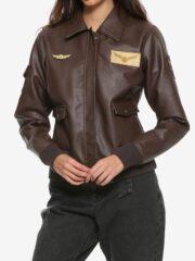 Carol Danvers Captain Marvel Flight Bomber Leather Jacket