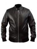 Castle Seamus Dever Brown Cafe Racer Leather Jacket