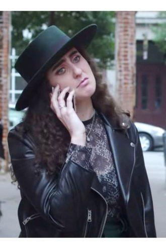 Catherine Cohen The Lovebirds Biker Leather Jacket