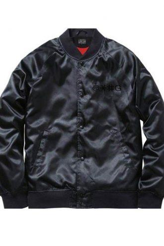 Cha Cha Beat Boy Black Bomber Satin Jacket