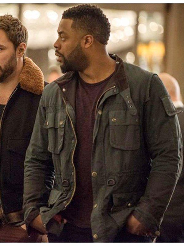 Chicago P.D S07 LaRoyce Hawkins Green Cotton Jacket