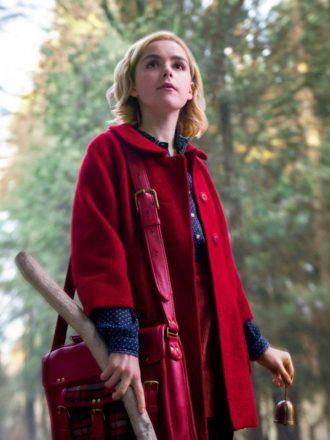Chilling Adventures of Sabrina Kiernan Shipka Red Coat