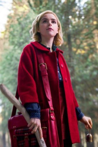 Chilling Adventures of Sabrina Kiernan Shipka Red Coat
