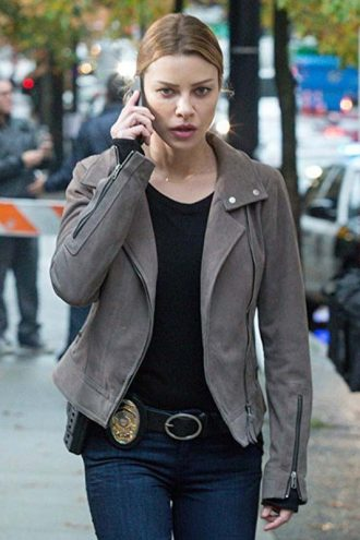 Chloe Decker Lucifer Biker Leather Jacket
