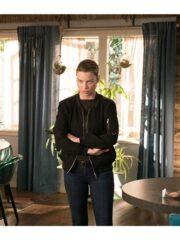 Chloe Decker Lucifer S03 Black Bomber Jacket