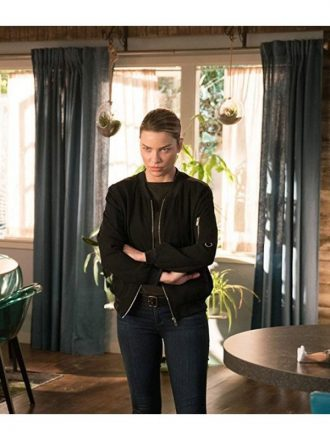 Chloe Decker Lucifer S03 Black Bomber Jacket