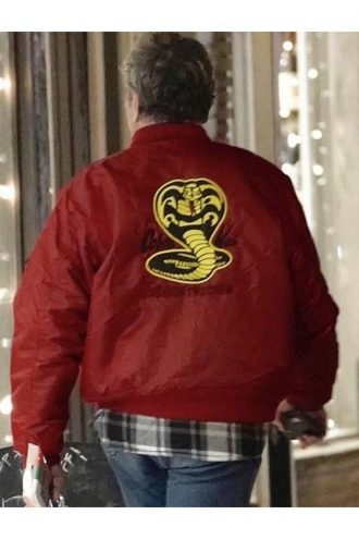 Cobra Kai William Zabka Red Bomber Jacket