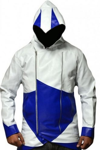Connor Kenway Assassin's Creed 3 Hooded Leather Jacket