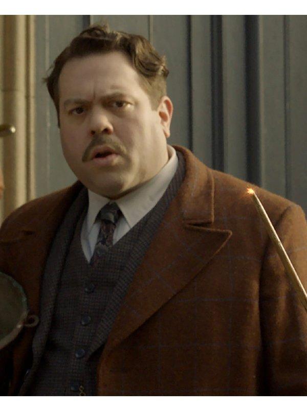 Dan Fogler Fantastic Beasts 2 Wool Coat