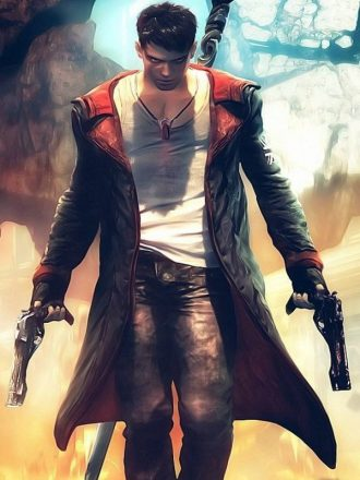 Dante Devil May Cry Black Leather Coat
