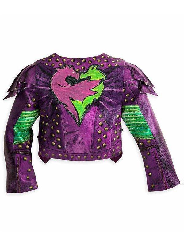 Descendants 2 Dove Cameron Purple Leather Jacket