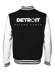 Detroit Become Human Black Varsity Jacket For Men's