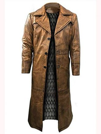 Edward Ratchett Murder on the Orient Express Leather Coat