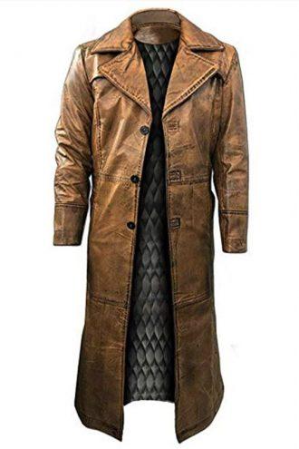 Edward Ratchett Murder on the Orient Express Leather Coat
