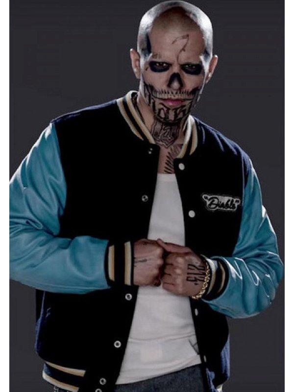 El Diablo Suicide Squad Blue Bomber Jacket
