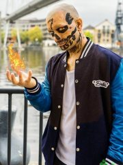 El Diablo Suicide Squad Blue Varsity Jacket