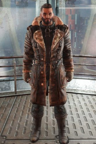 Elder Maxson Fallout 4 Distressed Leather Battlecoat