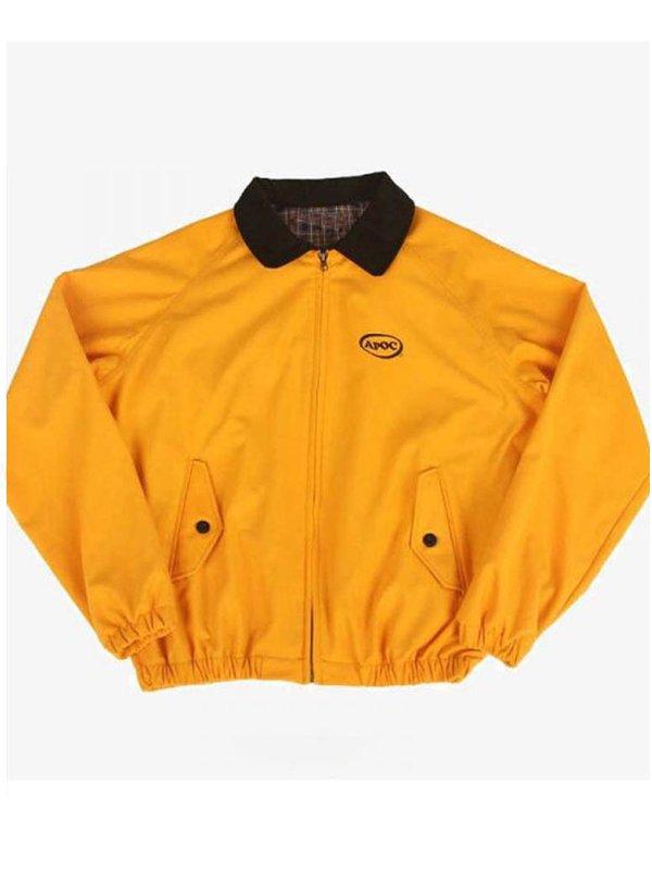 Euphoria Jungkook Yellow Apoc Cotton Bomber Jacket