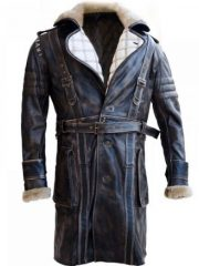 Fallout 4 Elder Maxson Brown Leather Battlecoat