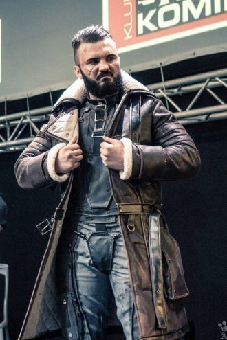 Fallout 4 Elder Maxson Brown Leather Battlecoat With Fur
