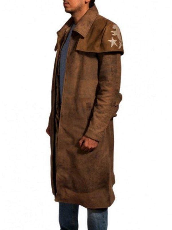 Fallout NCR Veteran Ranger Distressed Brown Duster Coat