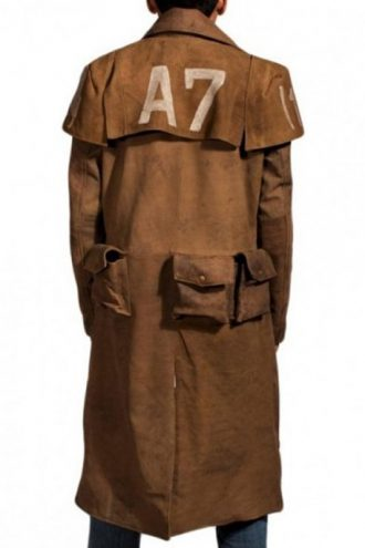 Fallout NCR Veteran Ranger Distressed Leather Duster Coat