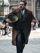 Fantastic Beasts Jacob Kowalski Wool Brown Checked Coat