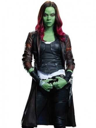 Gamora Guardians of the Galaxy 2 Leather Coat