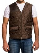 Governor The Walking Dead Quilted Brown Vest
