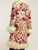 Hannah Floral Embroidered Fur Coat
