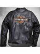 Harley Davidson Black Motorcycle Leather Jacket For Mens