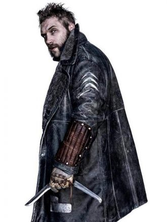Jai Courtney Suicide Squad Grey Leather Coat