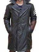 Jai Courtney Suicide Squad Grey Shearling Coat
