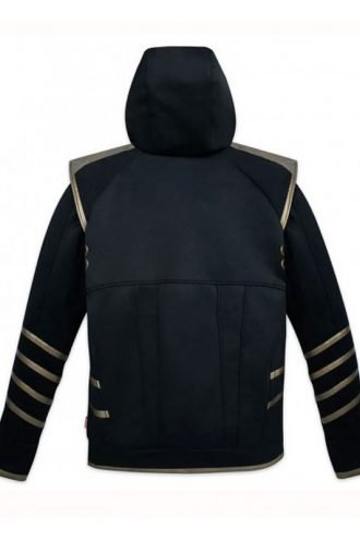 Jeremy Renner Avengers Endgame Zip Up Black Hoodie