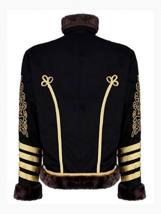 Jimi Hendrix Hussars Black and Golden Parade Jacket