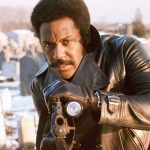 John Shaft Black Biker Leather Jacket