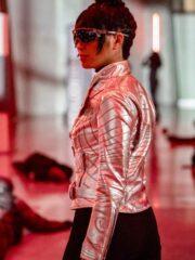 Kimiyo Hoshi The Flash Emmie Nagata S06 Silver Leather Jacket