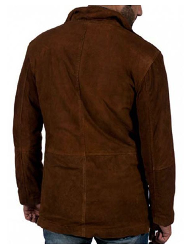 Longmire Robert Taylor Suede Leather Coat
