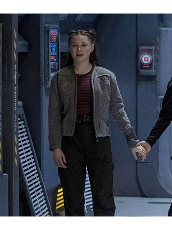 Lost In Space Mina Sundwall Grey Cotton Jacket