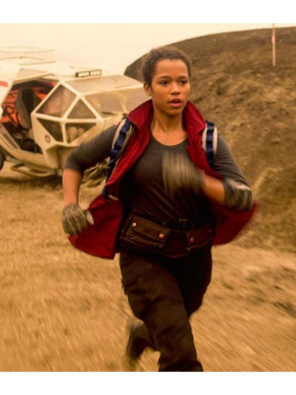 Lost In Space S02 Taylor Russell Red Cotton Vest