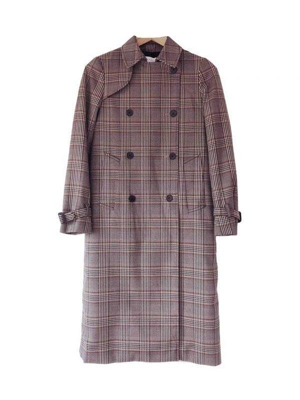 Lucifer Chloe Decker Checked Wool Coat