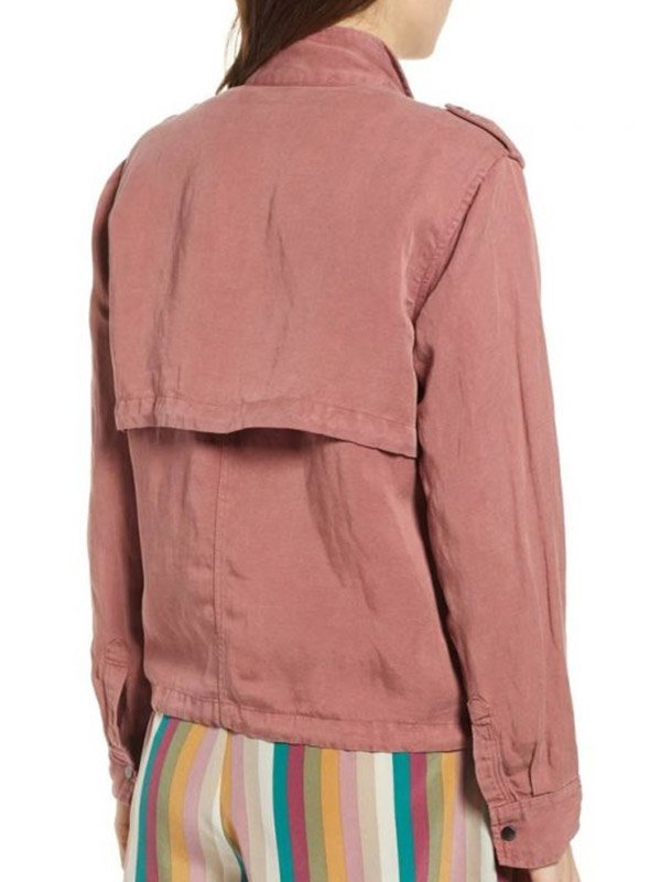 Lucifer S05 Chasten Harmon Pink Denim Jacket